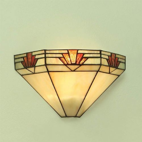 Nevada Wall Light (Art Deco, Wall Lamp) TM16W (Tiffany style)